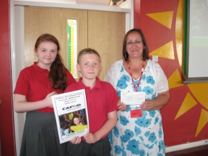 Year 6 pupils receive thank you certificate