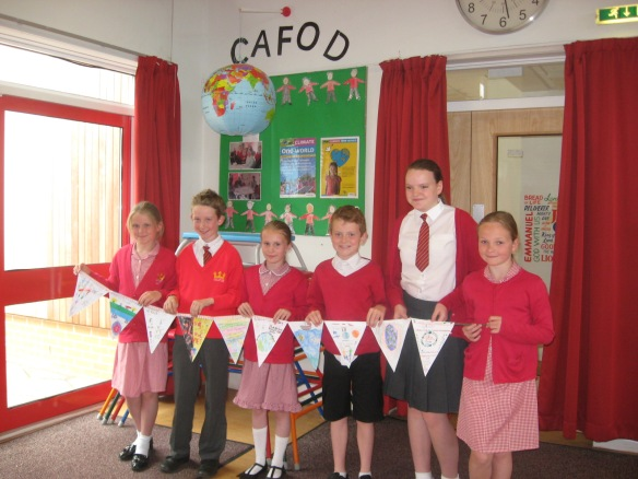 Christ the King CAFOD group with bunting