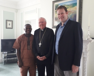 Bishop Terry with Kayode and Conor